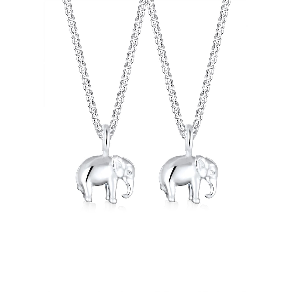 Elli Schmuckset »Mutter Kind Elefant Verbundenheit 925 Silber«