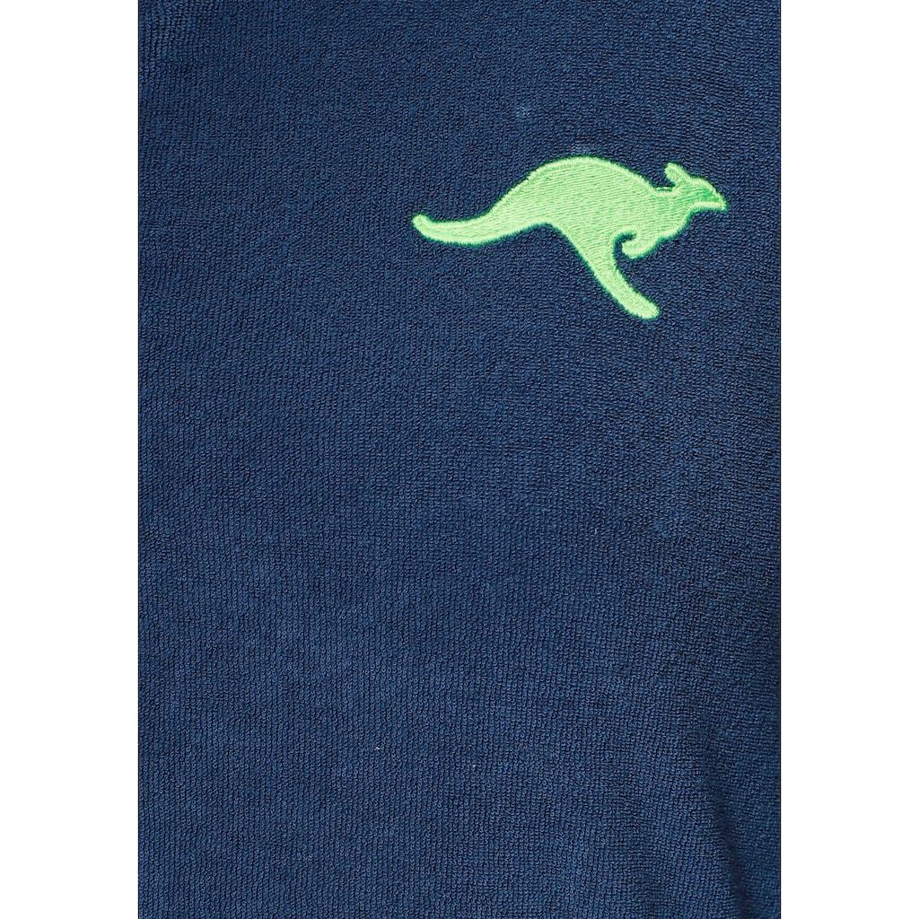 KangaROOS Damenbademantel »Kira«, (1 St.), mit Reißverschluss und Bindekordel