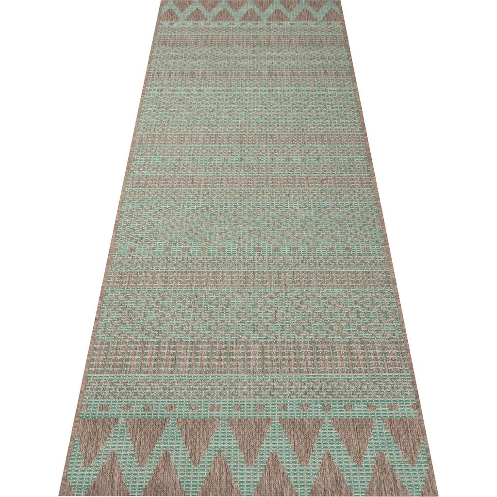 bougari Läufer »Sidon«, rechteckig, 4 mm Höhe, In- und Outdoor geeignet, Flachgewebe
