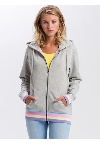 Cross Jeans® Kapuzensweatjacke »65223«, Legerer Cut kaufen