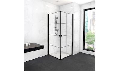 MARWELL Duschwand »Clean line«, Glasdusche mit Eckeinstieg, ohne Duschwanne kaufen