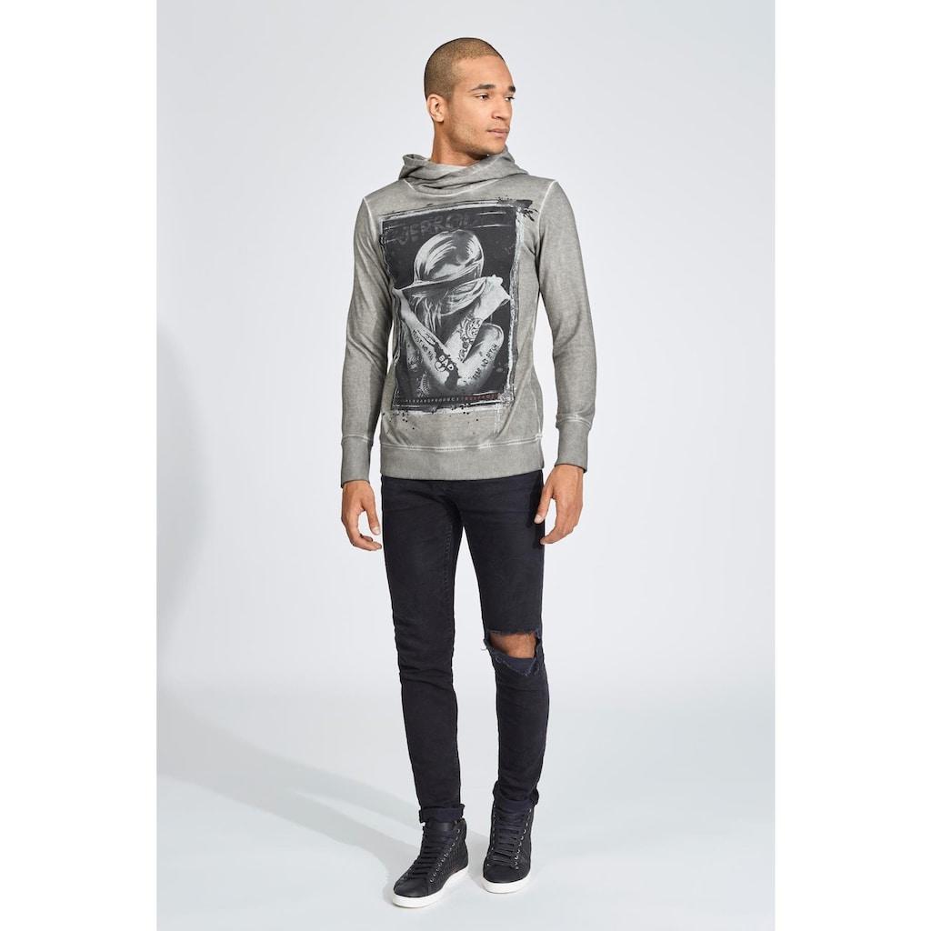 trueprodigy Kapuzensweatshirt »Stop seeing«, mit modischem Frontprint in Vintage-Optik