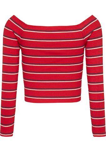 Tommy Jeans Carmenshirt »TJW Skinny Off Shoulder Stripe«, mit allover Ringeldessin kaufen
