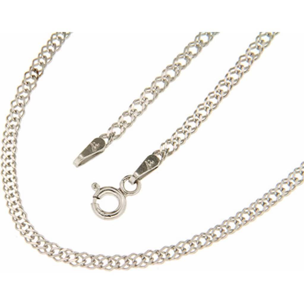 Firetti Silberkette »in Doppelpanzerkettengliederung, 2,2 mm, glanz, 2-fach diamantiert«
