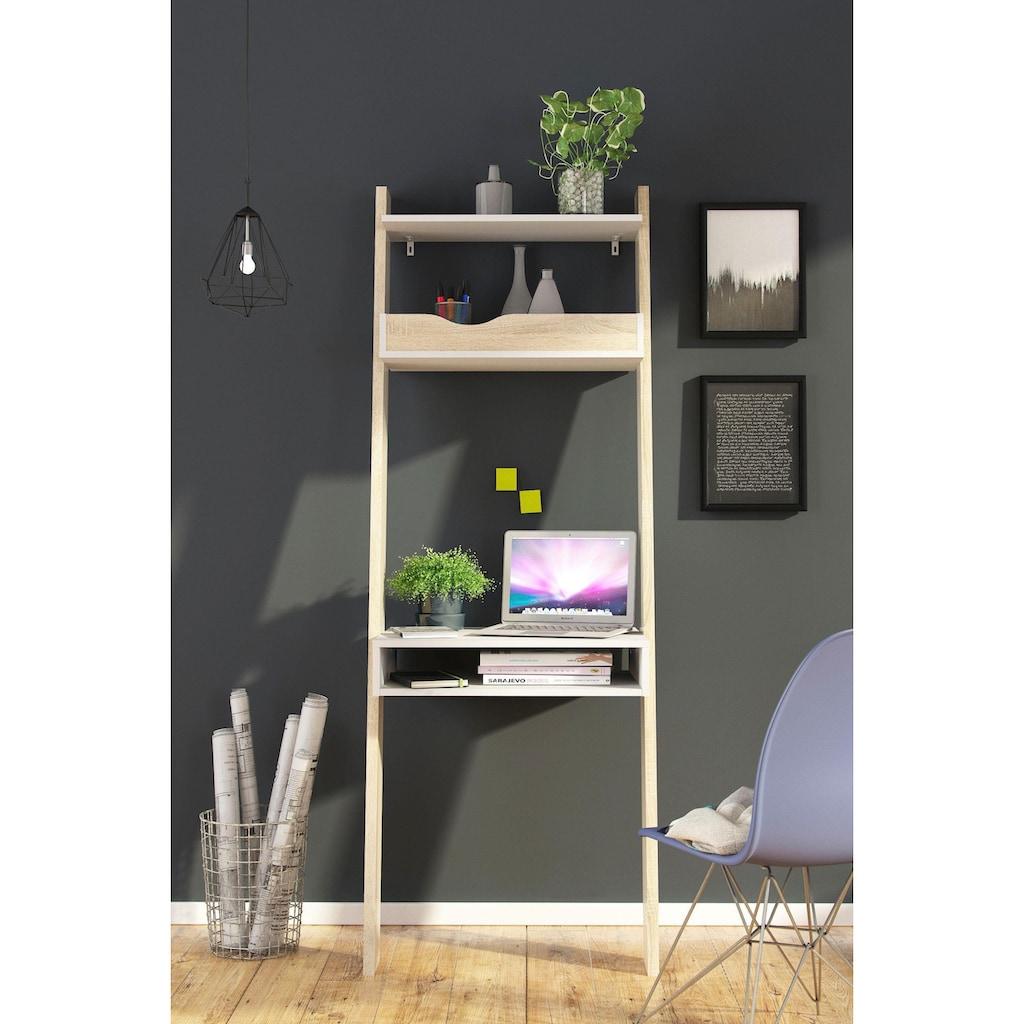 Home affaire Schreibtisch »Oslo«, erstrahlt im modernen Retrodesign, mit einer Schreibtischplatte