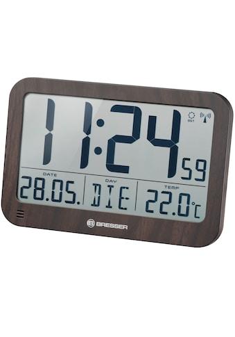 BRESSER Wanduhr »MyTime MC LCD Wand - /Tischuhr in Holzoptik« kaufen