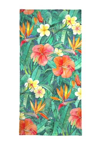 Juniqe Handtuch »Classic Tropical Garden«, (1 St.), Weiche Frottee-Veloursqualität kaufen