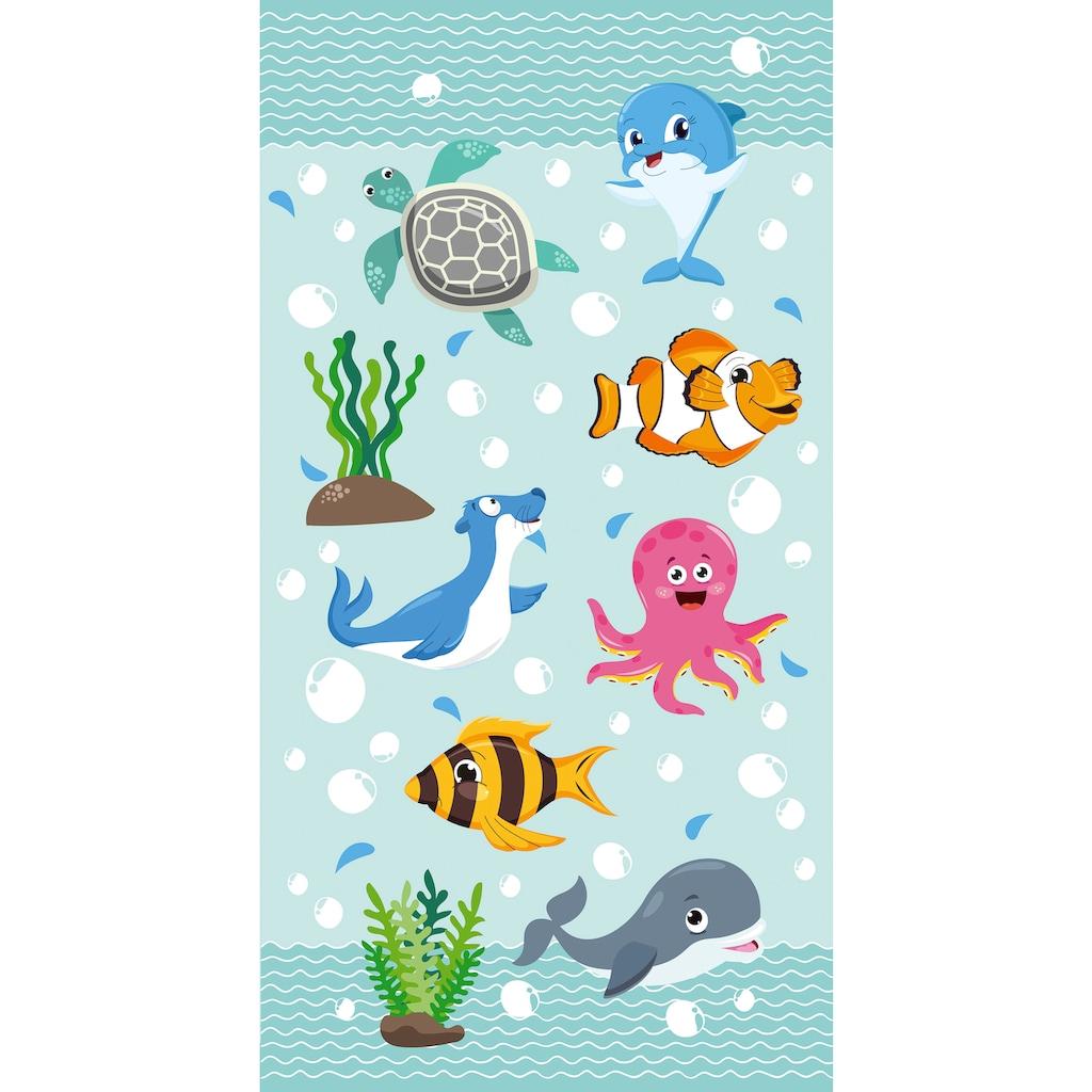 good morning Strandtuch »Seaworld«, (1 St.), mit niedlichen Tieren