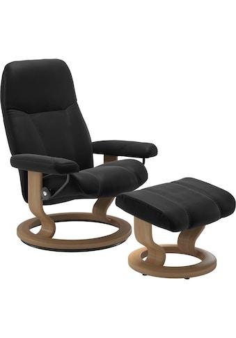 Stressless® Relaxsessel »Consul«, mit Hocker, mit Classic Base, Größe S, Gestell Eiche kaufen