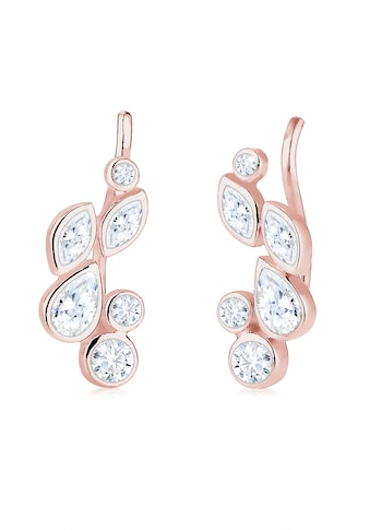 Elli Paar Ohrhänger »Earcuff Tropfen Zirkonia 925 Silber« kaufen