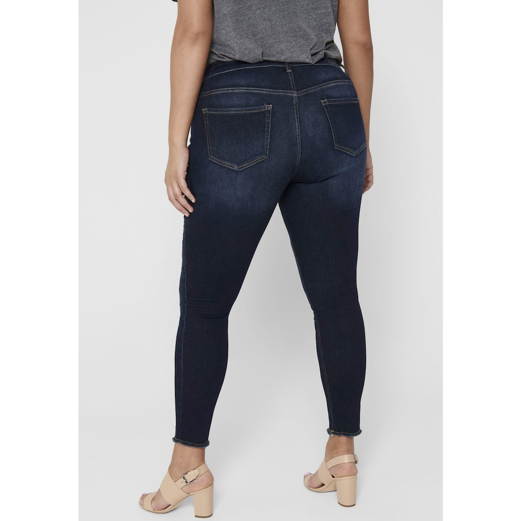 ONLY CARMAKOMA Skinny-fit-Jeans »Willy«, in washed-out Optik