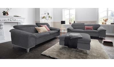 COTTA Polstergarnitur, (Set), Set: bestehend aus 3-Sitzer und Hocker, Sofa inklusive... kaufen