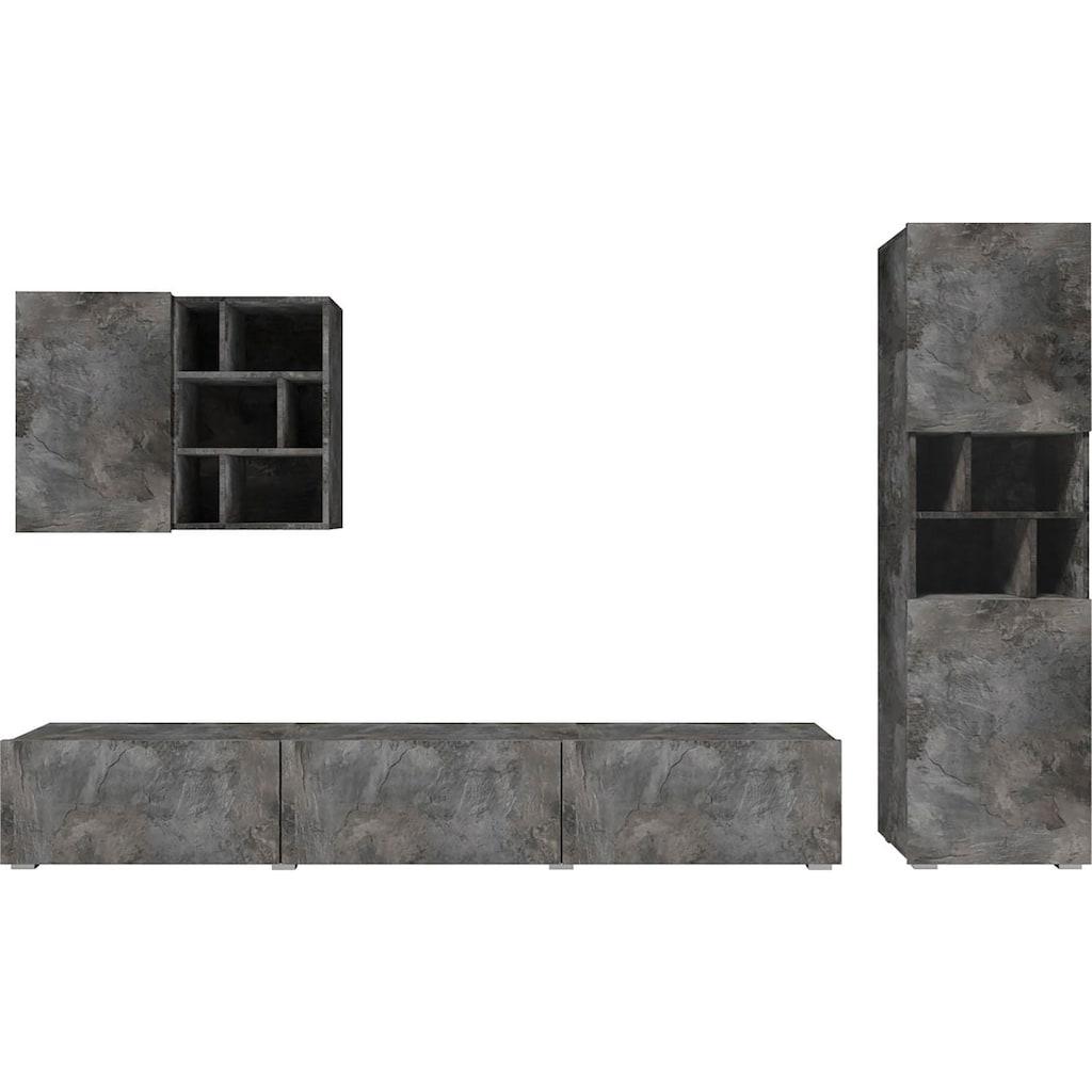 Helvetia Wohnwand »Aksel«, (Set, 3 St.)
