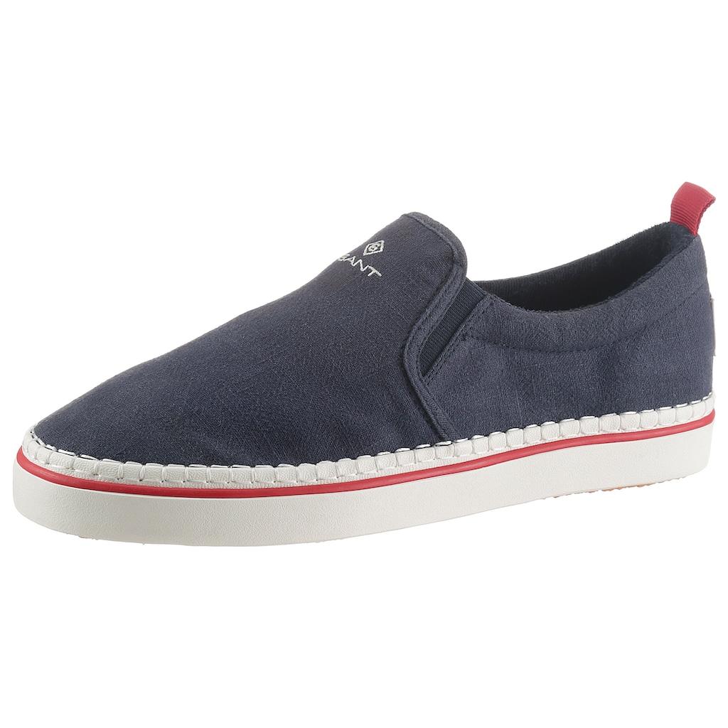 Gant Footwear Slipper »FRENZO«, mit Stretcheinsätzen für bequemes Einschlupfen