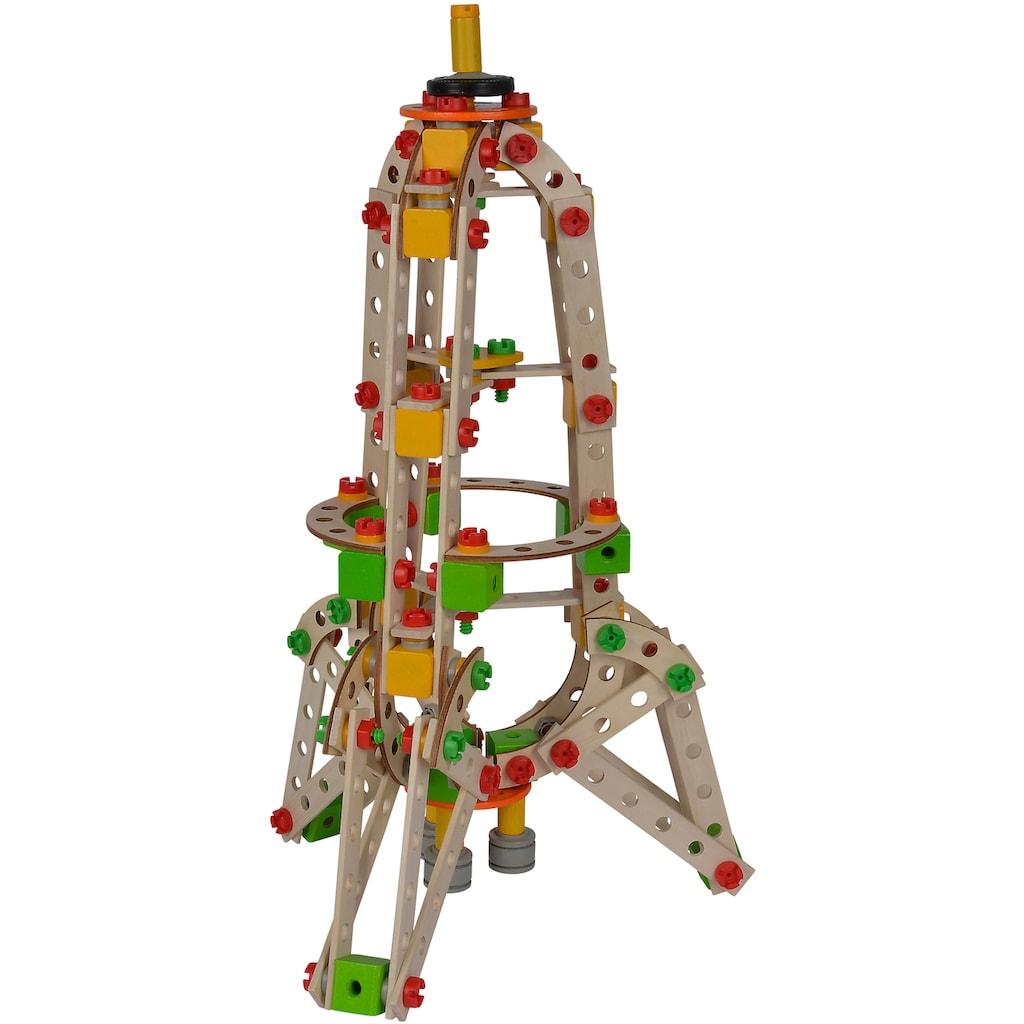 Eichhorn Konstruktionsspielsteine »Constructor Rakete«, (250 St.), Made in Germany, FSC®-Holz aus gewissenhaft bewirtschafteten Wäldern