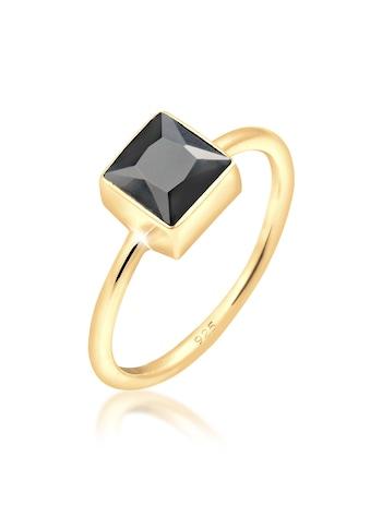 Elli Fingerring »Bandring Viereck Geo Zirkonia Trend 925er Silber« kaufen