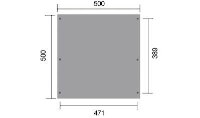 WEKA Doppelcarport »Leif Duo«, BxT: 500x500 cm kaufen