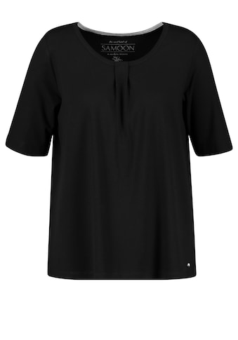 Samoon T - Shirt Kurzarm Rundhals »Leicht ausgestelltes Shirt« kaufen
