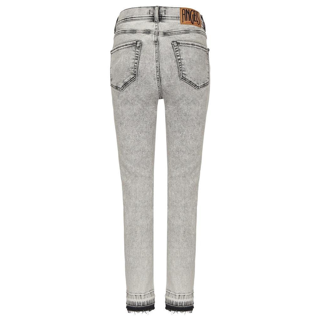 ANGELS Ankle-Jeans, mit Fransenabschlüssen