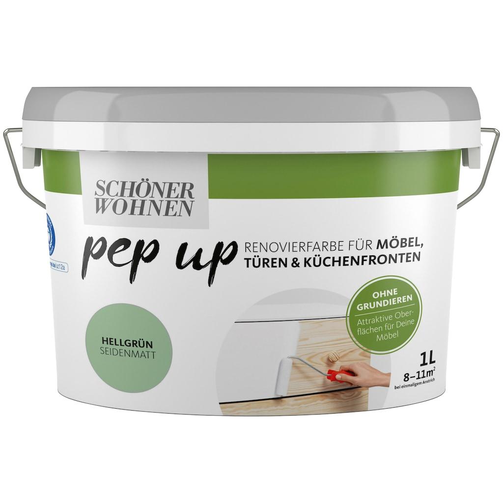 SCHÖNER WOHNEN-Kollektion Lack »pep up - hellgrün«, seidenmatt, für Möbel, Türen und Küchenfronten, 1 l