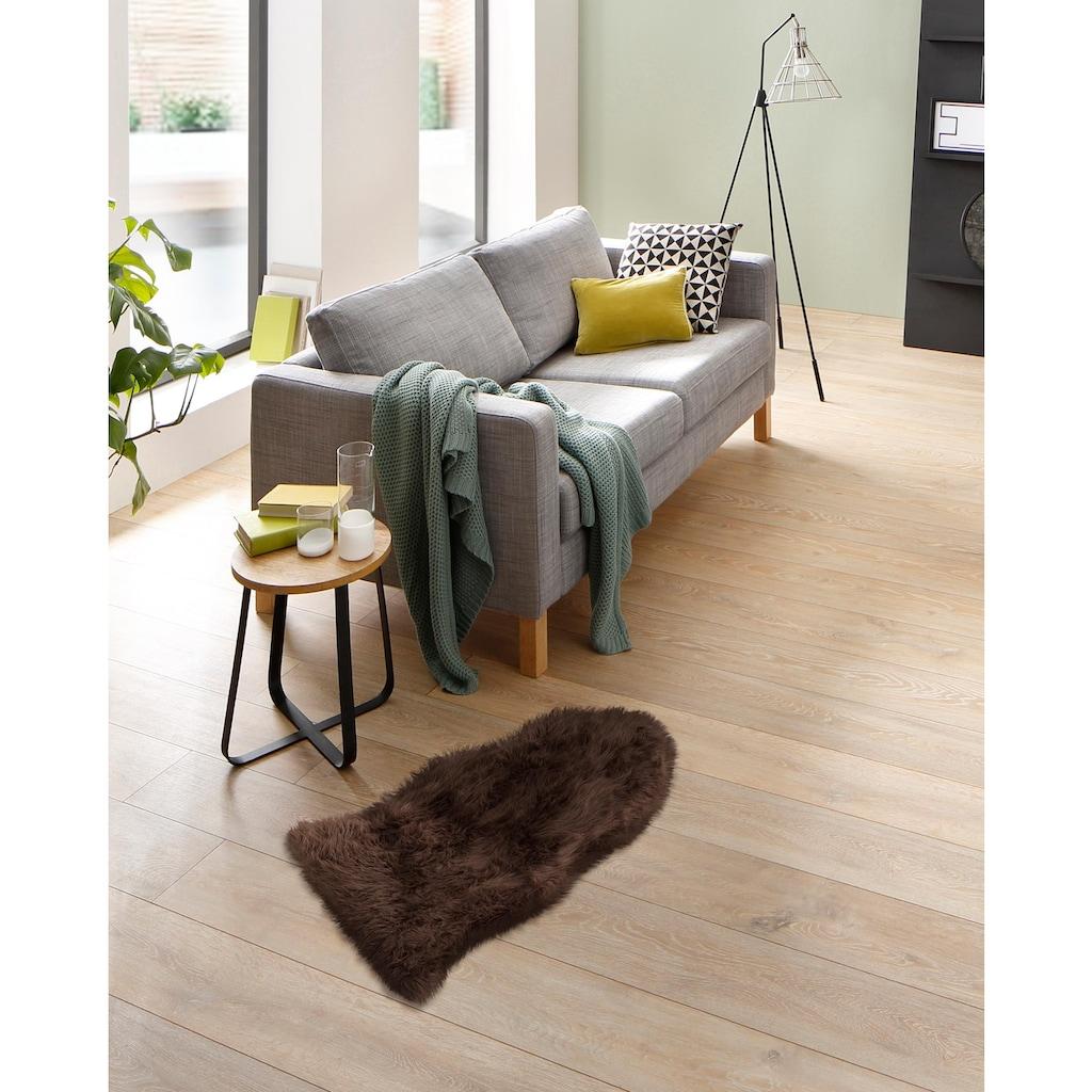 Home affaire Fellteppich »Dena«, fellförmig, 60 mm Höhe, Kunstfell, sehr weicher Flor, Wohnzimmer