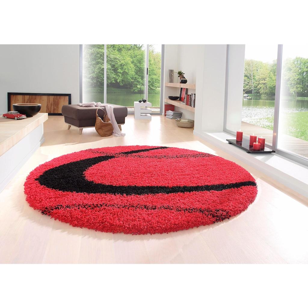 my home Hochflor-Teppich »Ankara«, rund, 52 mm Höhe, weicher Flor, Wohnzimmer