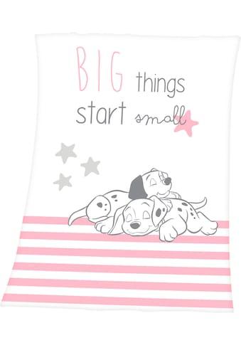 Walt Disney Babydecke »101 Dalmatiner«, mit niedlichem 101 Dalmatiner Design kaufen