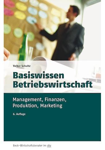 Buch »Basiswissen Betriebswirtschaft / Volker Schultz« kaufen