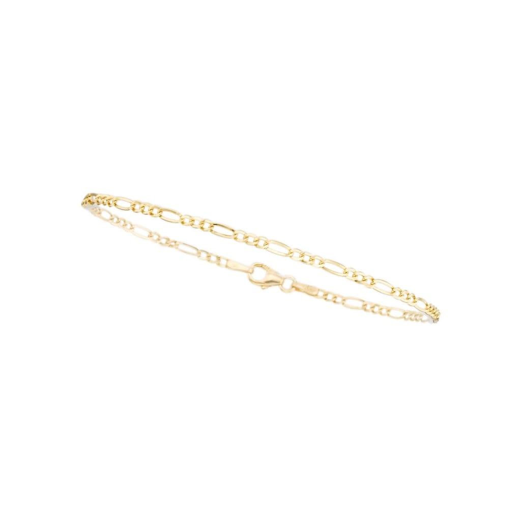 Firetti Goldarmband »in Figarokettengliederung, 2-fach diamantiert, poliert, 2,5 mm breit«