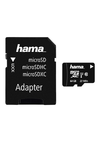 Hama microSDXC 64 GB Class 10 UHS - I 22MB/s +Adapter/Foto »inkl. Adapter/Mobile« kaufen