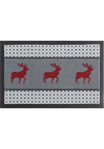 Fußmatte, »Hirsch Deer«, HANSE Home, rechteckig, Höhe 7 mm, maschinell gewebt kaufen