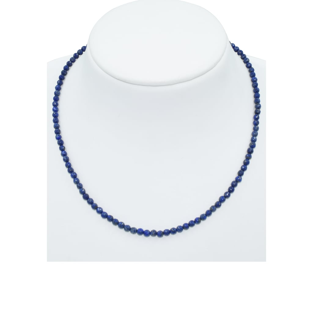 Firetti Collier »Edel, Rondelle, 4 mm breit«, mit Lapislazuli, Made in Germany