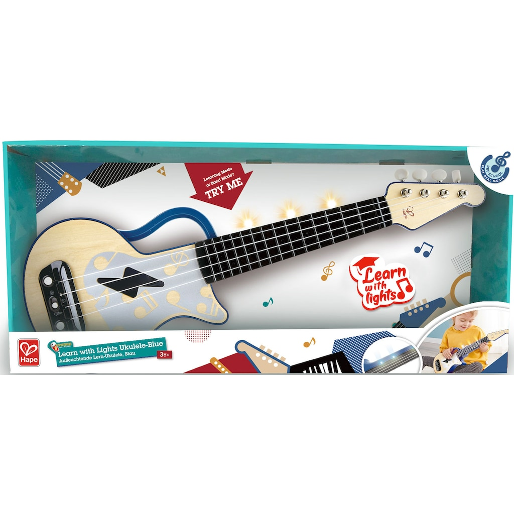 Hape Spielzeug-Musikinstrument »Elektrische Lern-Ukulele, blau«