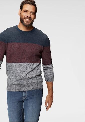 Man's World Rundhalspullover, mehrfarbig kaufen