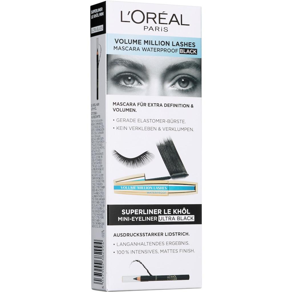 L'ORÉAL PARIS Augen-Make-Up-Set »Volume Million Lashes WTP + Superliner Le Khôl Mini«, (2 tlg.)