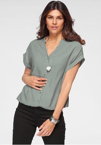 Boysen's Hemdbluse, im Oversized-Style mit Ballonsaum kaufen