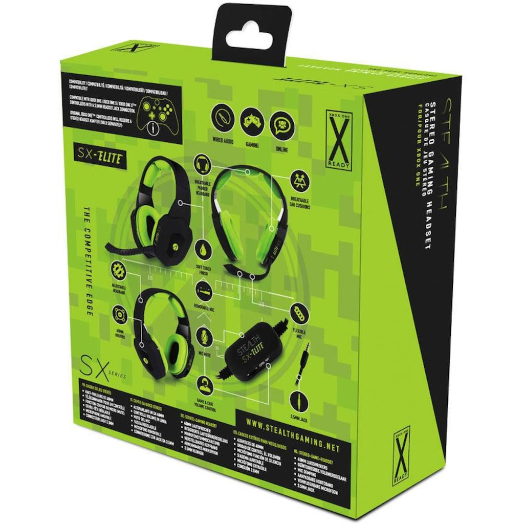 Stealth Gaming-Headset »SX-Elite Stereo«, Mikrofon abnehmbar