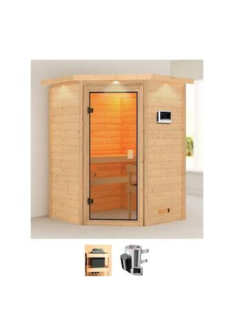 Karibu Sauna »Agneta«, 3,6-kW-Plug & Play Ofen mit externer Steuerung kaufen