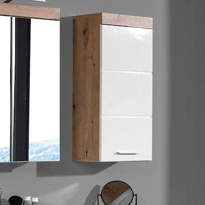 Hängeschrank fürs Bad in Weiß Hochglanz