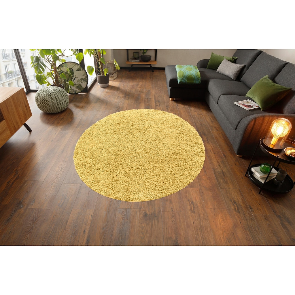 Home affaire Hochflor-Teppich »Viva«, rund, 45 mm Höhe, gewebt, Wohnzimmer