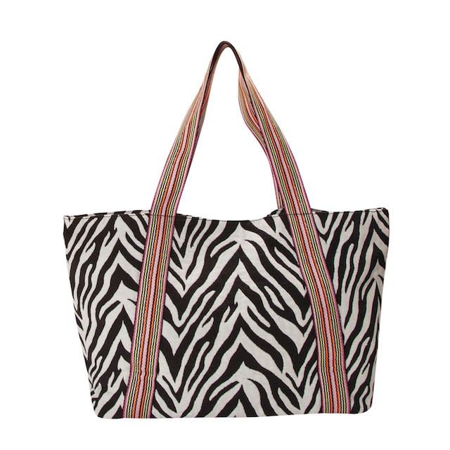 Codello XL-Shopper mit Zebra-Dessin aus Canvas