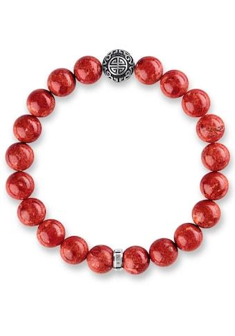 THOMAS SABO Armband »Ethno Rot, A1681-062-10«, mit rek. Korallen kaufen