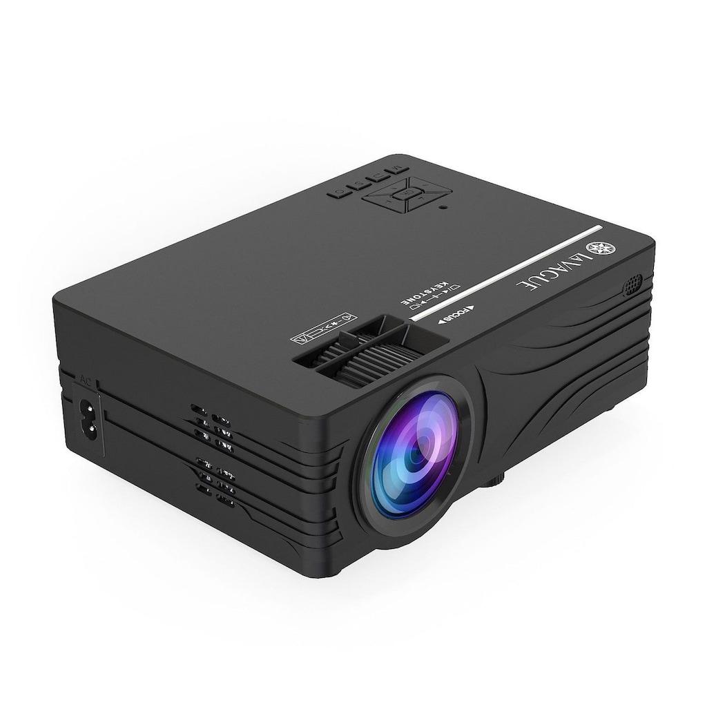 LA VAGUE LED-Beamer »LV-HD200«, (1000:1), schwarz, unterstützt Full HD, ideal zum Streamen von Netflix