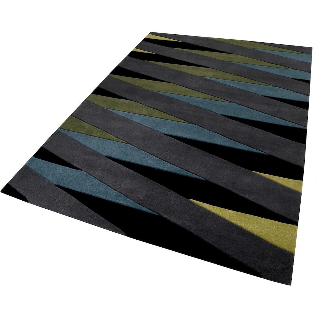Esprit Teppich »Lamella«, rechteckig, 10 mm Höhe, reine Schurwolle, Wohnzimmer