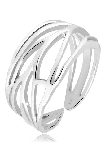 Elli Fingerring »Ornament und offene Ringschiene 925 Silber« kaufen