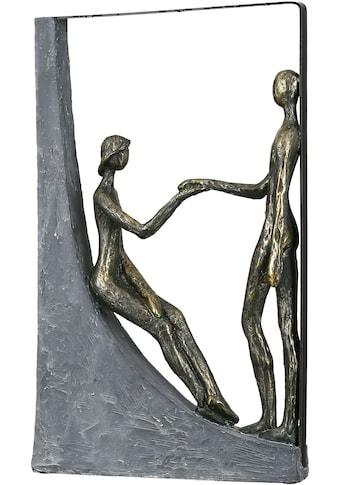 Casablanca by Gilde Dekofigur »Skulptur Holding Hands, bronzefarben/grau«, Dekoobjekt,... kaufen