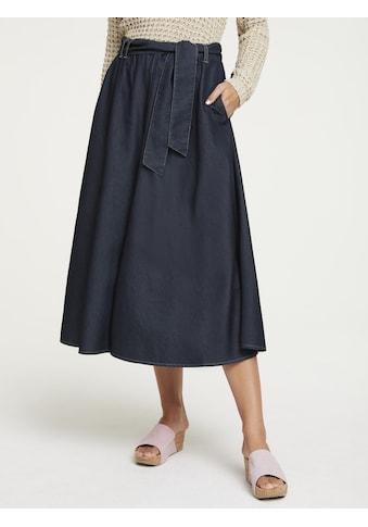 Jeansrock mit Bindegürtel kaufen