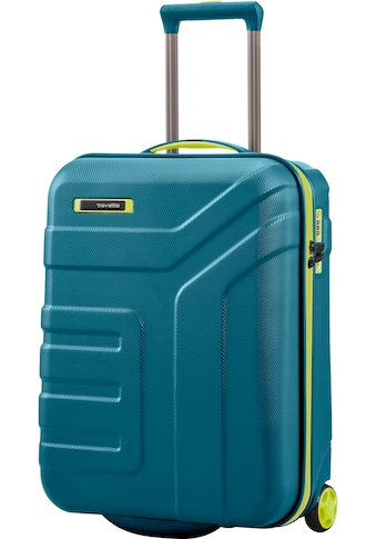 travelite Hartschalen-Trolley »Vector, 55 cm, Petrol/Limone«, 2 Rollen kaufen