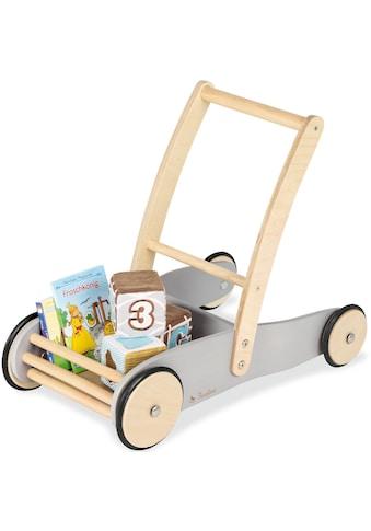 Pinolino® Lauflernwagen »Uli, grau«, aus Holz kaufen