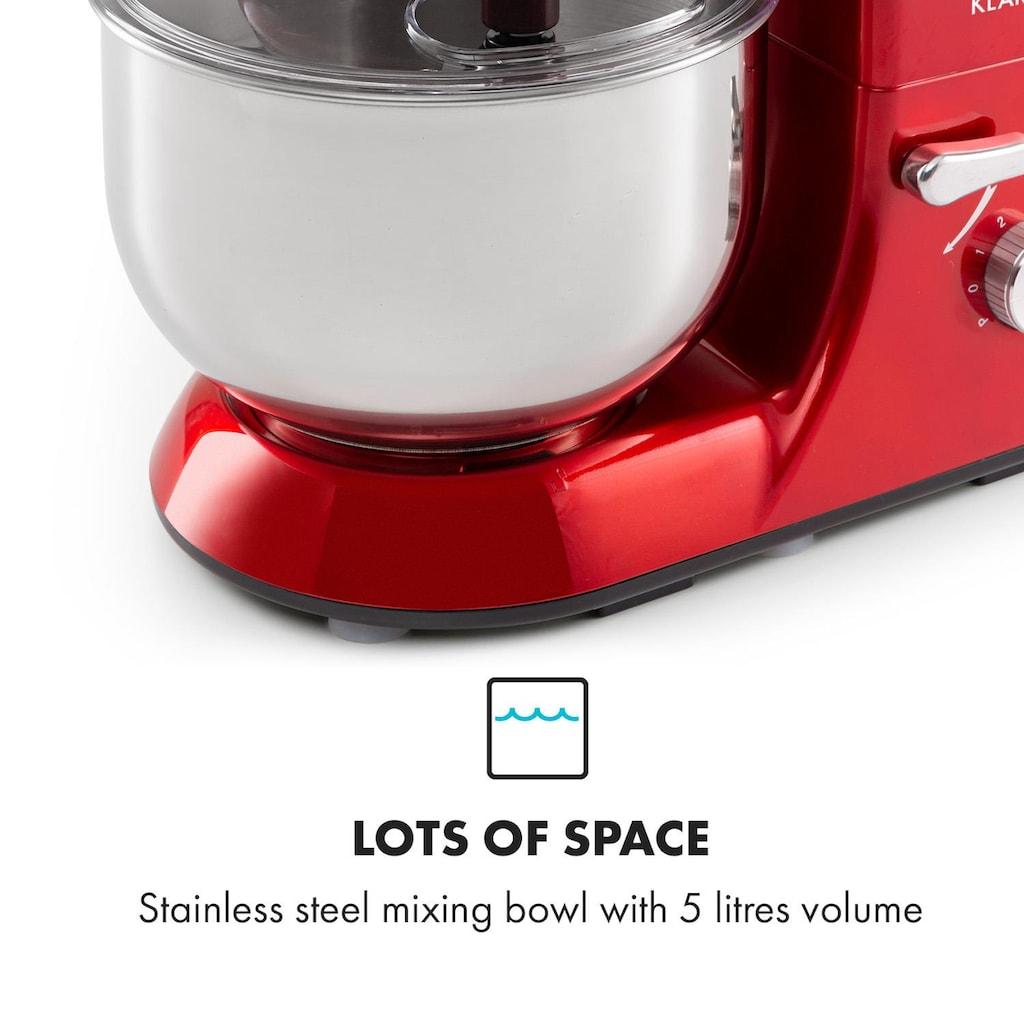 Klarstein Küchenmaschine 1300W 1,7PS 6 Stufen 5 Liter